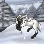 Asgard Playing in the Snow by luckdown