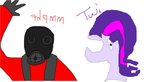 Pyro and Twilight Sparkle by pewdie-Twilight