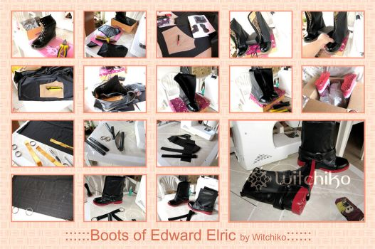 Boots of Edward Elric:::::: by Witchiko