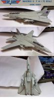 Top Gun F-14 Model: 1:72 scale by lonewolf3878