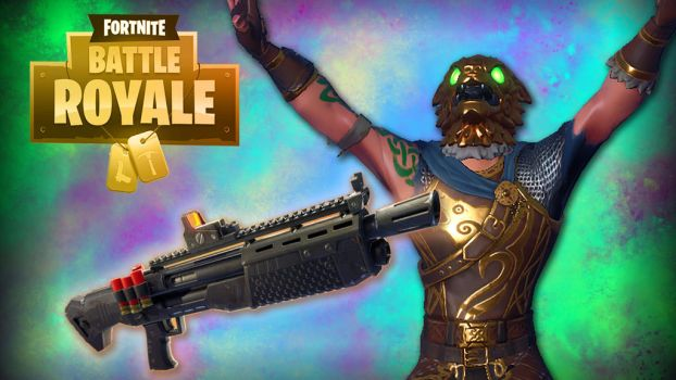 Fortnite BR Gold Hound Yazzz by LordMaru4U