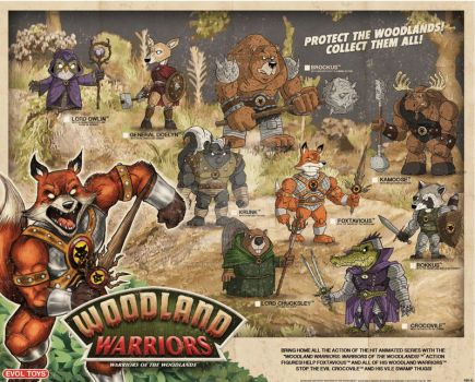 Woodland Warriors: Warriors of the Woodlands by chrisraimoart