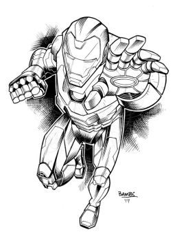 Iron Man Inks by Bambs79