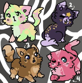 FREE CAT ADOPTS (CLOSED) by honeyy-bee