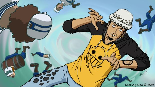 PINEAPPLE-POCKY KIRIBAN: Trafalgar Law of OnePiece by Silvertide
