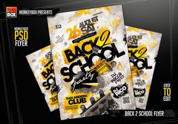 Back 2 School Flyer by AndyDreamm
