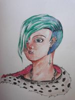 Punk and Blue by JeanMorrigan