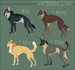 Adoptables: Wolves I (SOLD) by WrendingRae
