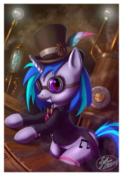 Steampunk Dj Pony by 14-bis