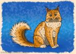 Ginger cat by JuliaLisitsina