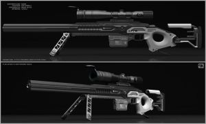 Csr - Concept of sci fi sniper rifle. by peterku