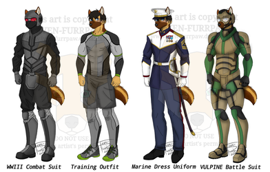 Nathan Outfits (Oc Training Wardrobe) by Iven-Furrpaw