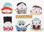 The Many Faces of E. Cartman by MeTheObscure