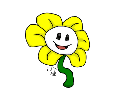 Flowey - Digital Art Attempt by PikachuJenn