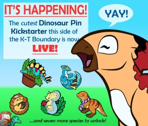 DINOSAUR PINS by RadiantGlyph