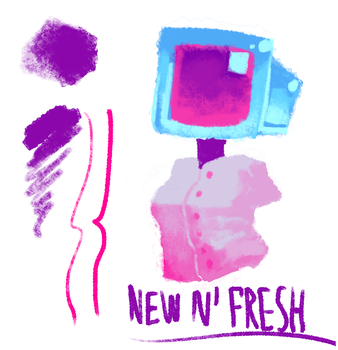 Clip Studio Paint Splatoon brush by blixembot