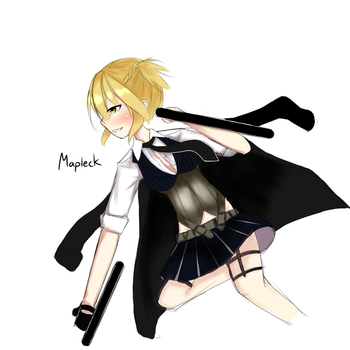 [Girls Frontline] Welrod MKII by mapleck