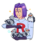 James and a Whole Buncha Pidove by k-t-b