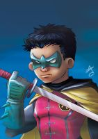 Robin - Damian Wayne Sketch by VallyFran