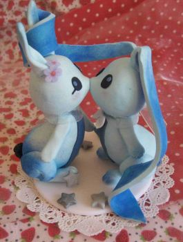 Cake figure of my future wedding - Bunnies Loving by AozoraDoll