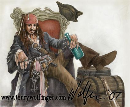 Captain Jack Color by WolfieArtGuy