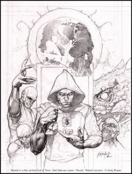 Neil Gaiman cover: Pencil by andybrase