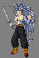 Future Trunks SSJ5 by theothersmen