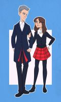 Twelve and Clara by sn0otchie