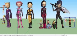 mmd Model Help code lyoko rig 2 this time with ds by djlindsay