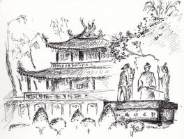 Sketching Tainan: Fort Provintia by XiaoGui
