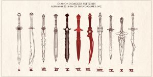 dagger sketches by Bing0ne