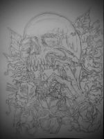 Skull (outline)  by deathlouis