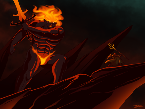 Surtr and Freyr by Blazbaros