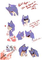Sonic.EXE Doodles by FlamieDeWynter