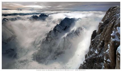 Looking down the Marmolada South Face in Winter by JamesRushforth