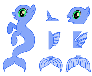 Merpony Bases - MS Paint (UPDATED) by Randina42