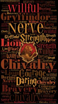 HD Gryffindor Traits Phone Wallpaper by emily-corene