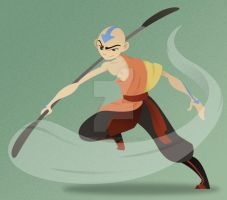 Avatar Aang by toonsbyjvaught