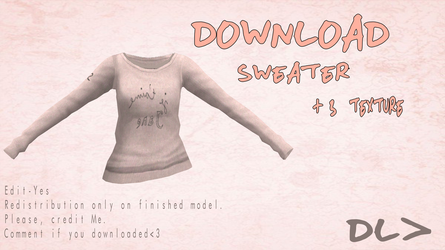 [MMD] Sweater [Doownload] by Dastezi
