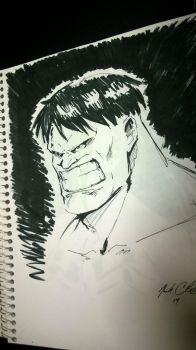 Hulk sketch in 6 min by Mark-Clark-II