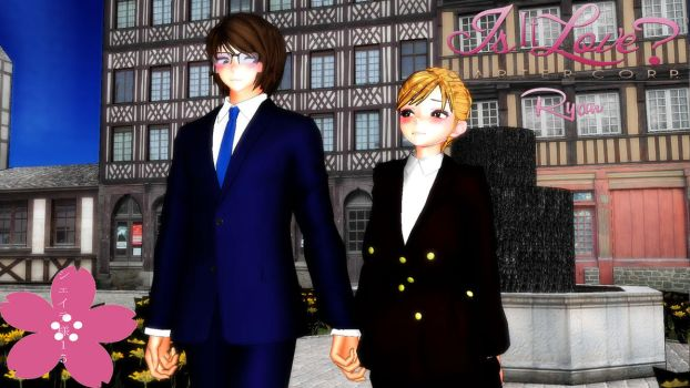 MMD Newcomers - Mark and Lisa (Is It Love?) by Sheila-Sama-15