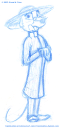 Guise of a Comical-Looking Nonconformist Clergyman by tranimation-art