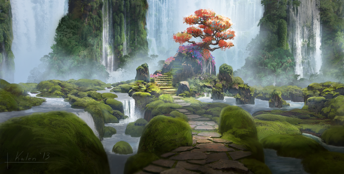 Waterfall Tree by k04sk