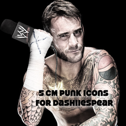 CP: 5 CM Punk Icons by BubblyPunkBitch