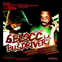 6blocc and busdriver flyer design by penpointred