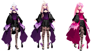 MMD: TDA Butterfly Dress Haku, IA, and Luka by K-Manoc1
