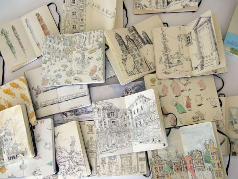 Sketchbooks in a different lig by MattiasA