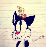 Sylvester and Tweety by EverNM