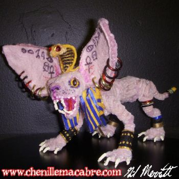Pipecleaner Sphynx Cat Figure by the-gil-monster