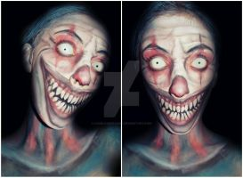 Evil Clown makeup by CamilaCostaArt